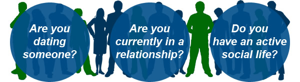 Are you dating someone? Are you currently in a relationship? Do you have an active social life?
